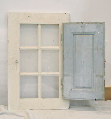 Vintage French Window With Shutter. Ideal Decorative Piece