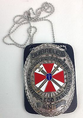 RESIDENT EVIL Umbrella Special Forces Unit Badge Prop Replica With Chain Holder