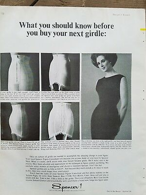 1963 women's SPENCER high waist girdles garters should know before you buy ad