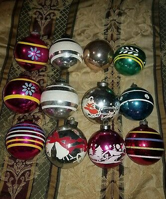 Lot of 24 Vintage Shiny Brite and misc Christmas ornaments