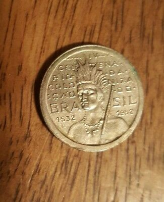 Brazil Coin 100 Reis 1932 Commemorative Copper-Nickel Km#527 Bu
