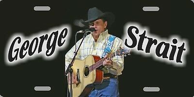 "George Strait Color Photo Country License Plate 12""x6"" HIGH QUALITY ALUMINUM"