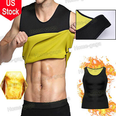 EXTREME Neoprene Men Vest Body Shaper Hot Sweat Workout Tank Top Sauna Suit USA