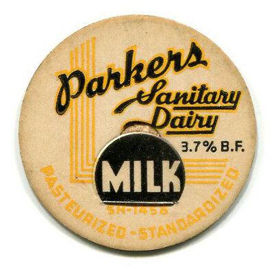 Parkers Sanitary Dairy Barberton OH Milk Bottle Cap Summit County Ohio O H