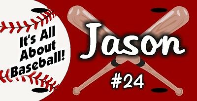 Personalized Custom Baseball License Plate w/ Name Number School Team etc.
