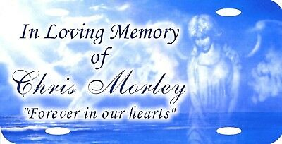 Personalized Custom In Loving Memory Angel Heavenly Light RIP License Plate NICE