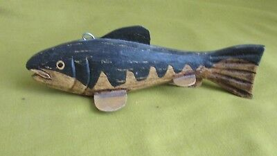 "Vintage 1940's Folk Art Fish Spearing Decoy,Old Hand Made Fishing Decoy,6.25"",GC"