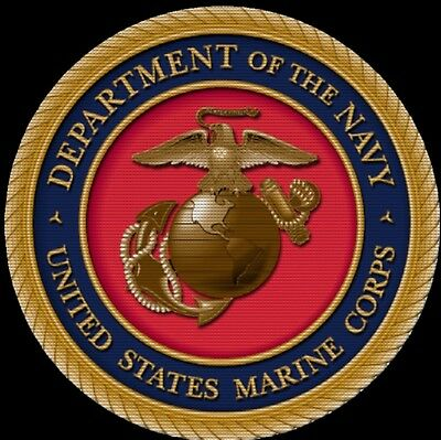 United States Marine Corps Drink Coasters Polyester Top Rubber Bottom Set of 4