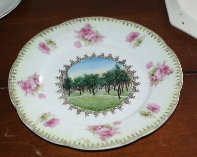 Wheelock Austria for G.L. Ware Books Stationery Fancy China Barry Illionos Plate
