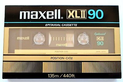 Maxell Xlii 90 Epitaxial High Bias Type Ii Blank Audio Cassette - Japan 1983