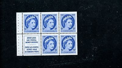 LOT 65767 MINT NH 341a BOOKLET PANE FROM STITCHED BK QUEEN ELIZABETH 11 WILDING