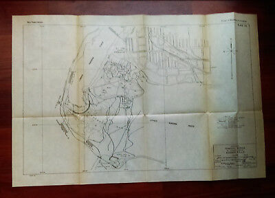 1919 Sketch Map Proposed Remdial Works in Rapids Above Niagara Falls New York