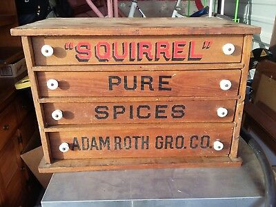 Antique General Store Adam Roth grocery St Louis Missouri built-in spice cabinet