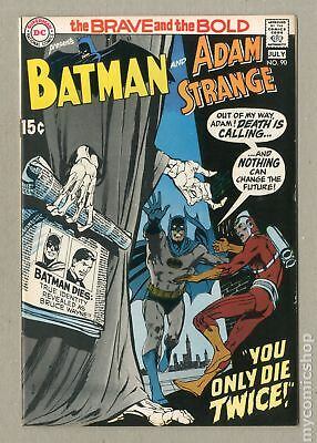 Brave and the Bold (1st Series DC) #90 1970 VF- 7.5
