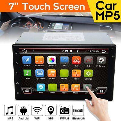 7'' Android6.0 Double 2 DIN Navi Sat Nav Car GPS Stereo Radio WiFi CAN EU 3D MDR
