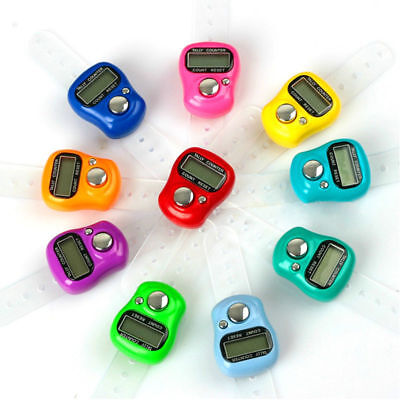 Mini 5-Digit LCD Electronic Digital Golf Finger Hand Held Ring Tally Row Counter