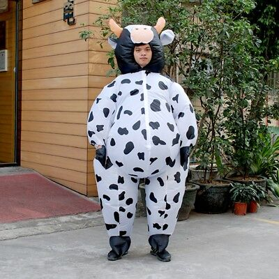 Adult Inflatable Cow Costume Animal Air Blowup Fancy Dress Halloween Outfit Suit  sc 1 st  PicClick & ADULT INFLATABLE COW Costume Animal Air Blowup Fancy Dress Halloween ...