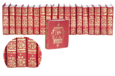 A Novel Idea 1:12 Set di 20 libri enciclopedia - 20 Books set Britannia