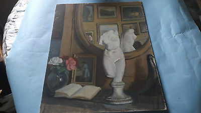 School of Paris France Master Oil Painting Caubrillar Art Bust World Collector