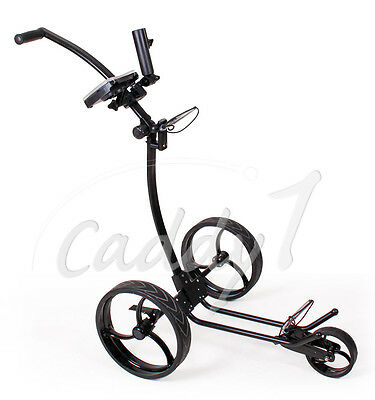Design Golf Trolley CADDYONE 110 Schwarz, nur knapp 6kg