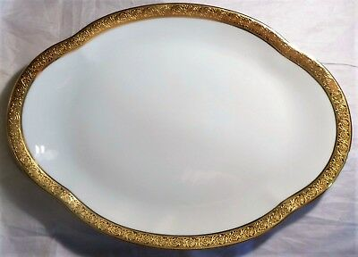 CH FIELD Limoges Haviland & Parlon Thistle Pattern Double Gold Band ...