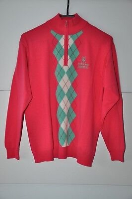 "Golf Zip- Damenpullover, in pink/mint/weiß, in ""M"" !!! NEU !!!"