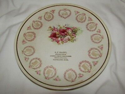 1914 Calendar Plate By Eilert Cleveland Ohio Orchid Flower