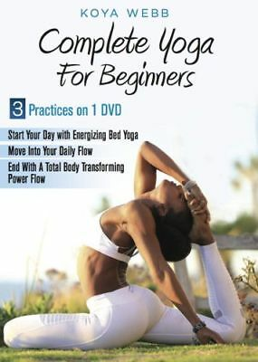 Complete Yoga For Beginners All Levels Dvd Koya Webb - 3 Practices New Sealed
