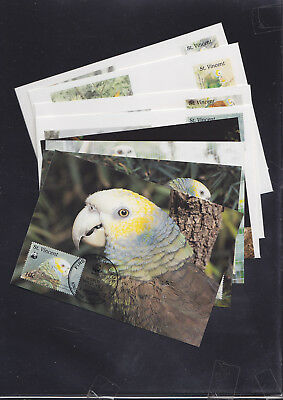 059438 WWF St Vincent Tiere Animals Maximum Card´s + FDC First Day Cover´s