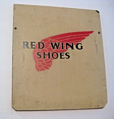 Rare Vintage Red Wing Shoes & Boots Advertising Store Display Hardboard Sign