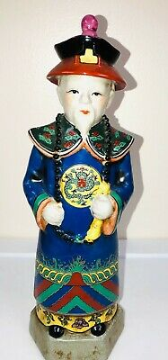 Chinese Wise Man-Royal Courtyard Statue-Porcelain Figurine-Detailed Hand Painted