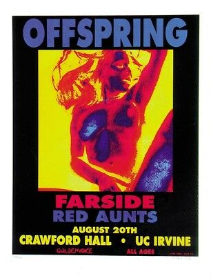 Offspring POSTER Farside Red Aunts Concert Artist Matt Getz Silkscreen Punk Rock