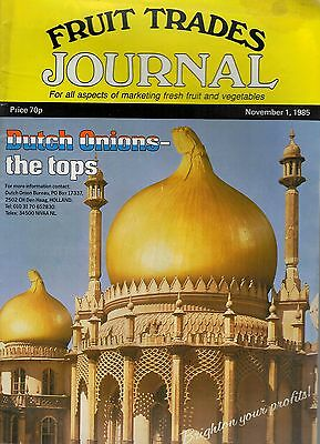 1985 1 NOV 58362  Fruit Trades Journal Magazine  CAPE PEACHES AIR FRATED IN