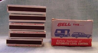 Vintage BUICK MATCHBOOK MATCHBOX ADVERTISING AUTOMATIC LEVEL CONTROL- BOX OF 5
