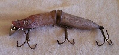 OLD ANTIQUE UNKNOWN LURE 02/12/18pots  SEE HARDWARE POSSIBLY HEDDON
