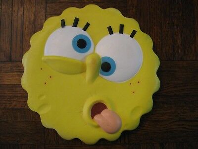 2006 Stephen Hillenburg Signature Spongebob Thick Frisbee or Dog Toy Blow Mold