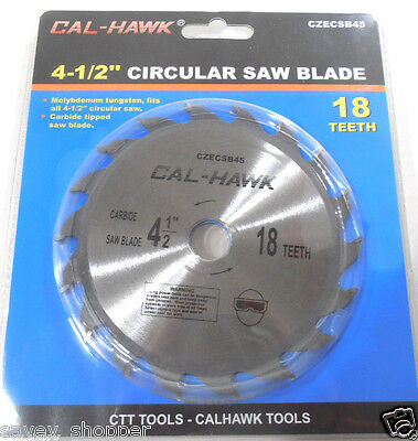"4-1/2"" INCH x 5/8"" INCH ARBOR CARBIDE TUNGSTEN CIRCULAR SAW BLADE 18 TOOTH"