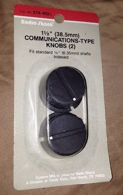 "1 1/2"" (38.5mm) Communications-Type Control Knobs RadioShack 274-402 - 2 Knobs"