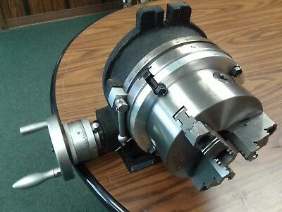 "8"" HORIZONTAL & VERTICAL ROTARY TABLE w. adapter & 6"" 3-jaw chuck, #IN-TSL8-C6"