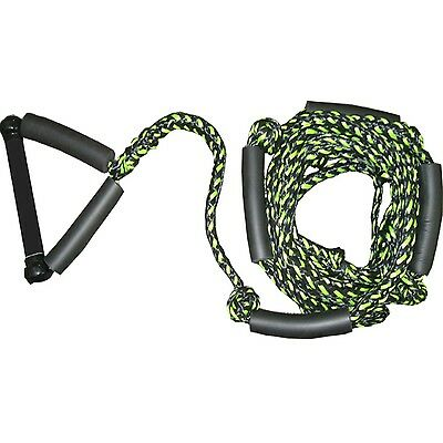 Konex KP9 Pro Wakesurf Rope With Leather Handle BLACK GREEN