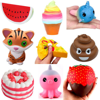 Strawberry Cake lot Squishy Slow Rising Cream Scented Decompression Cure Toys