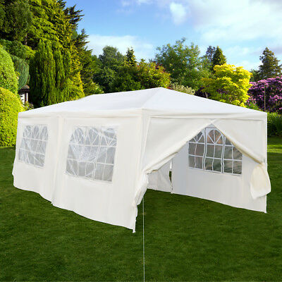 3X6M Gazebo Wedding Tent Waterproof Canopy Awning Marquee Outdoor Party Garden