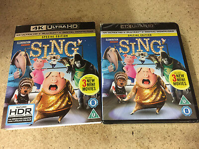 Sing Special Edition 4K Ultra Hd Premium Uhd Blu-Ray Brand New Sealed - Uk