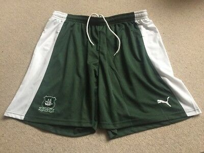 Plymouth Argyle Green/White Home Football Shorts Brand New With Tags Size XL