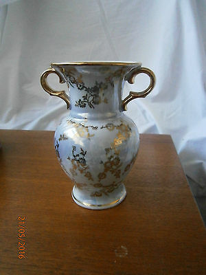 Beautiful Vintage Small German PM Crown Mark Vase Urn Gilt Floral Swags Maidens