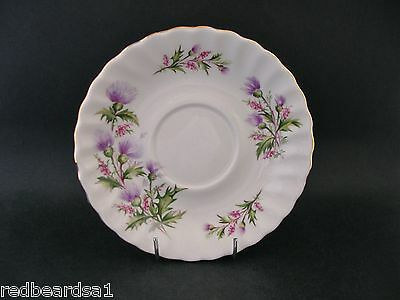 China Replacement Queen Anne Lochinvar Scottish Thistle Vintage Saucer 1960 14cm