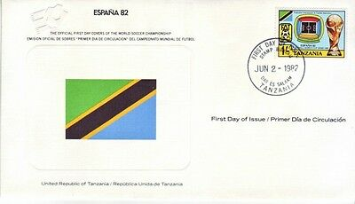 Tanzania - World Cup Soccer, Spain '82 (FDC) 1982