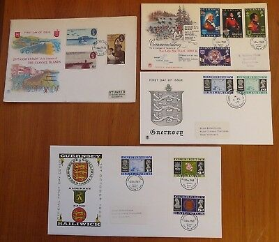 Guernsey: collection 14 different fine FDCs, 1969-83