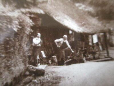 BRANSCOMBE DEVON THE OLD SMITHY  VINTAGE 1930s RP PICTURE POSTCARD