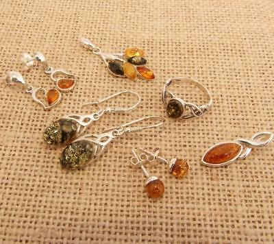 Small Wholesale Lot Baltic Amber & 925 Silver Jewellery 12.5g